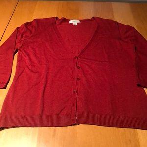 Cranberry color cardigan